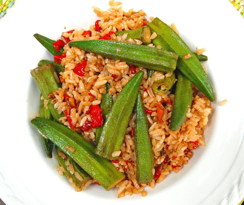Fried Rice with Okra