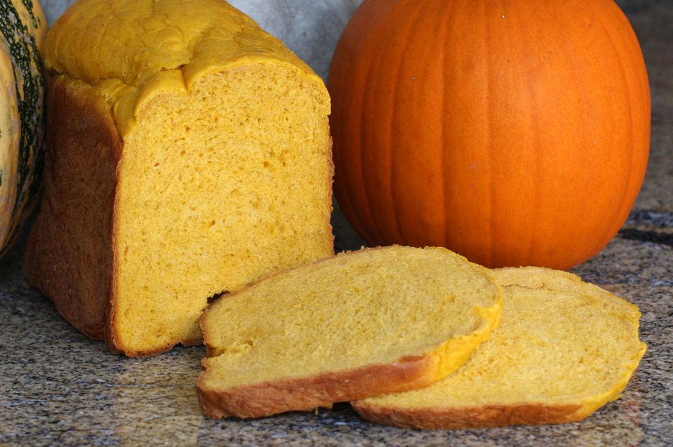 homemade pumpkin yeast bread from a bread machine