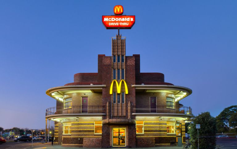 US Retail and Restaurant Australian Chain Store Locations Down Under McDonald's