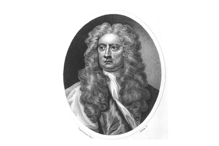 Portrait of British mathematician and physicist Sir Isaac Newton (1642 - 1727)