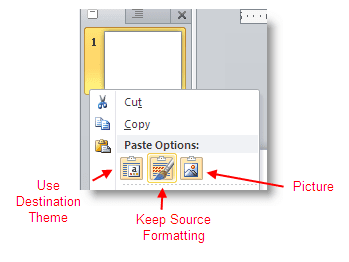 How to copy powerpoint 2010 slides to another presentation method one copy and paste powerpoint slides toneelgroepblik Choice Image