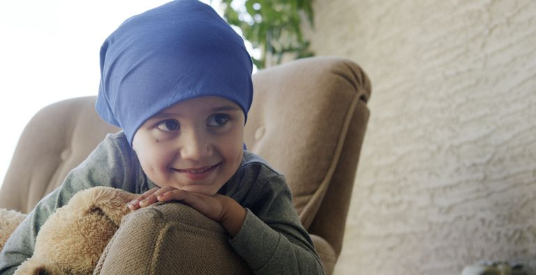 Little Boy with Cancer in the Hospital