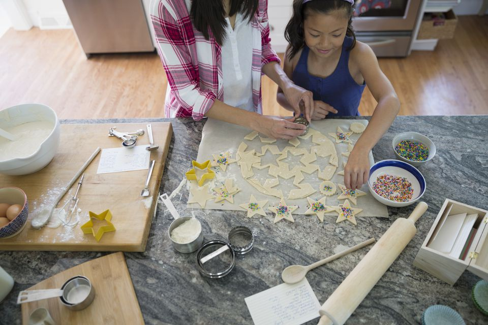 Cooking on a Natural Granite Slab Countertop