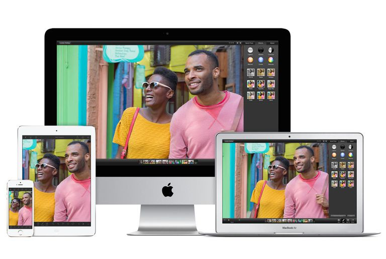 iPhoto on various Apple devices