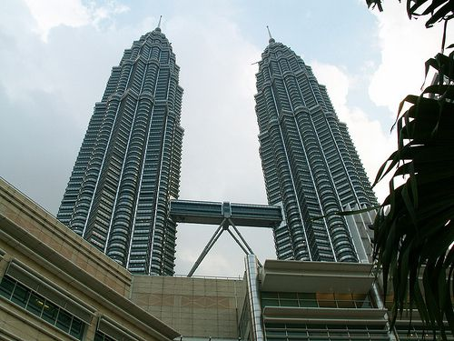 The Petronas Towers are the tallest twin buildings in the world.