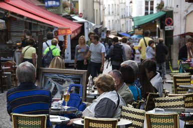 Rue Mouffetard is a lovely old neighborhood to explore