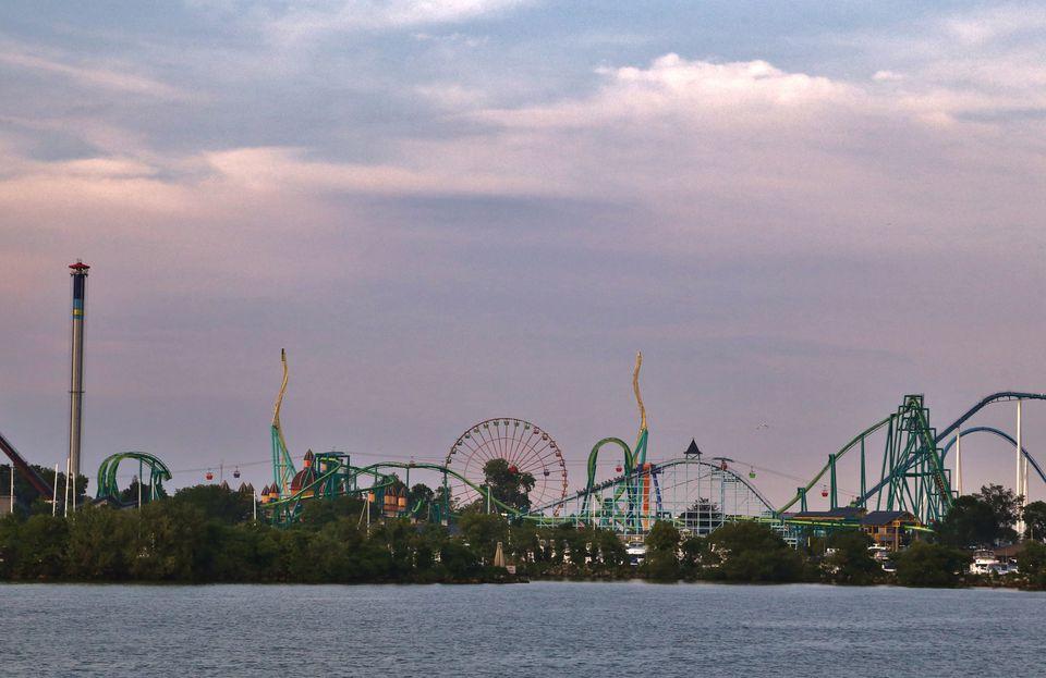 Distant Amusement Park, Cedar Point Amusement Park, Sandusky, Ohio, USA