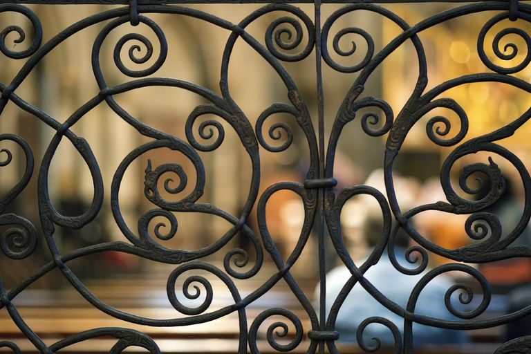 Ornate metalwork