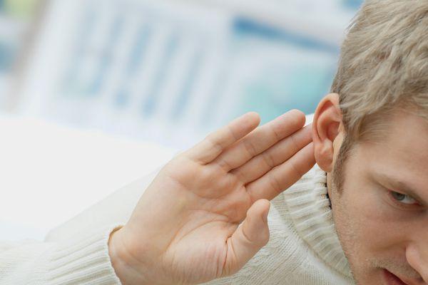 Man hearing loss