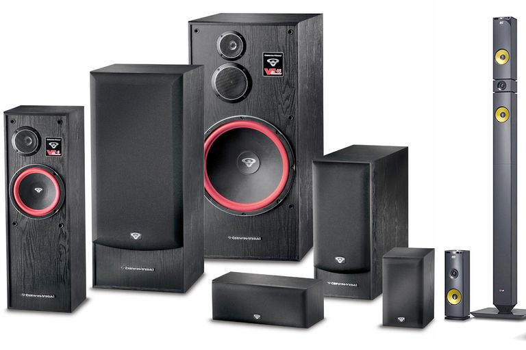 Cerwin Vega VE Series and LG Tall Boy Speakers