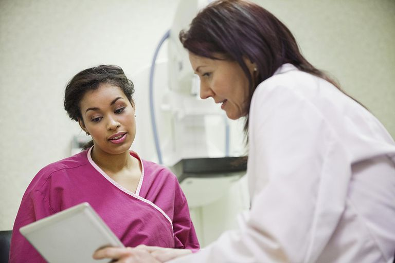 Female doctor explaining results to patient