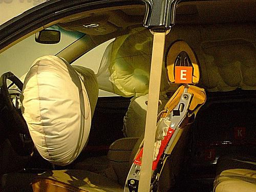 a deployed airbag