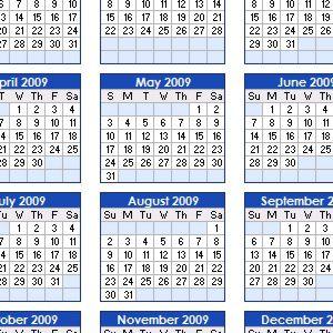 Printable Calendars from Vertex42.com