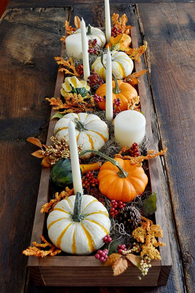 Fall Wedding Tablescape With Taper Candles