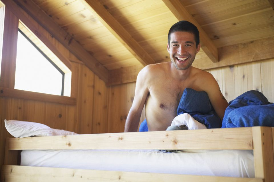 Man in bunk bed