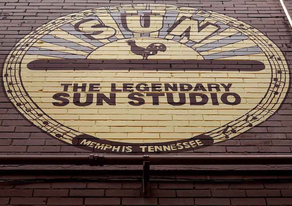 Sun Studio (Sun Record Company) signage in Memphis, Tennessee