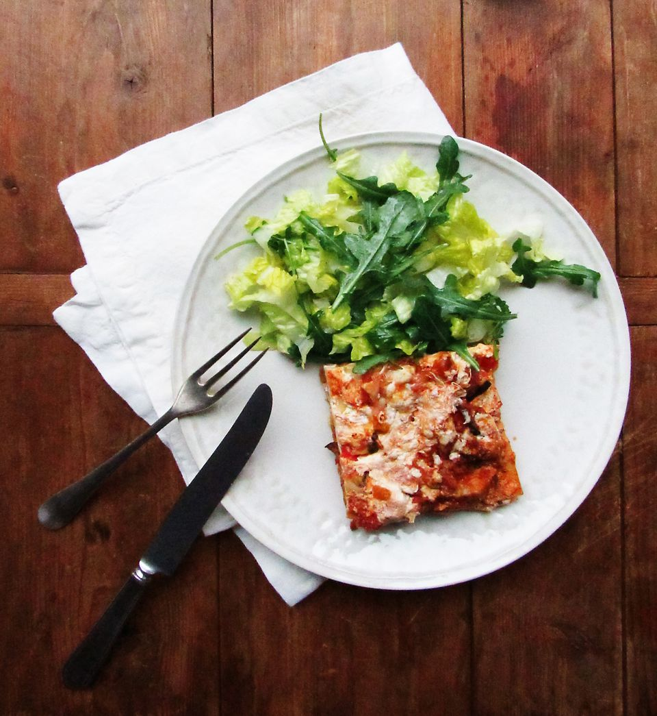 Summer Vegetable and Sausage Lasagna