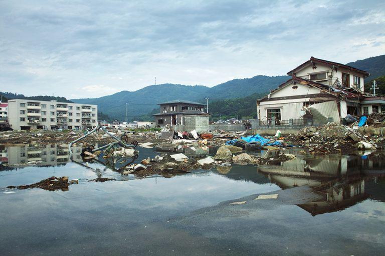 Tsunami damage in Ayukawahama