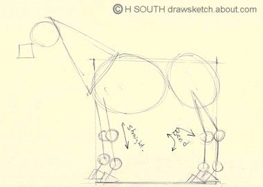 How to draw a horse in simple steps continuing the horse drawing ccuart Image collections