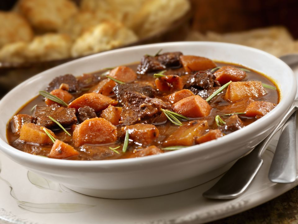 Irish Stew With Biscuits