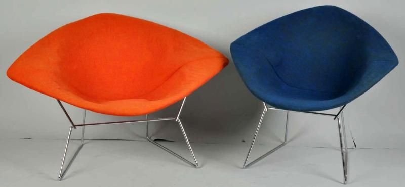 diamond chairs designed by harry bertoia for knoll international c 1950s - Mid Century Modern Furniture Of The 1950s