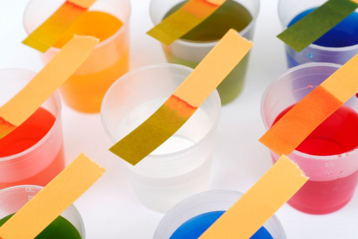 Litmus paper is a type of pH paper that is used to test the acidity of water-based liquids.