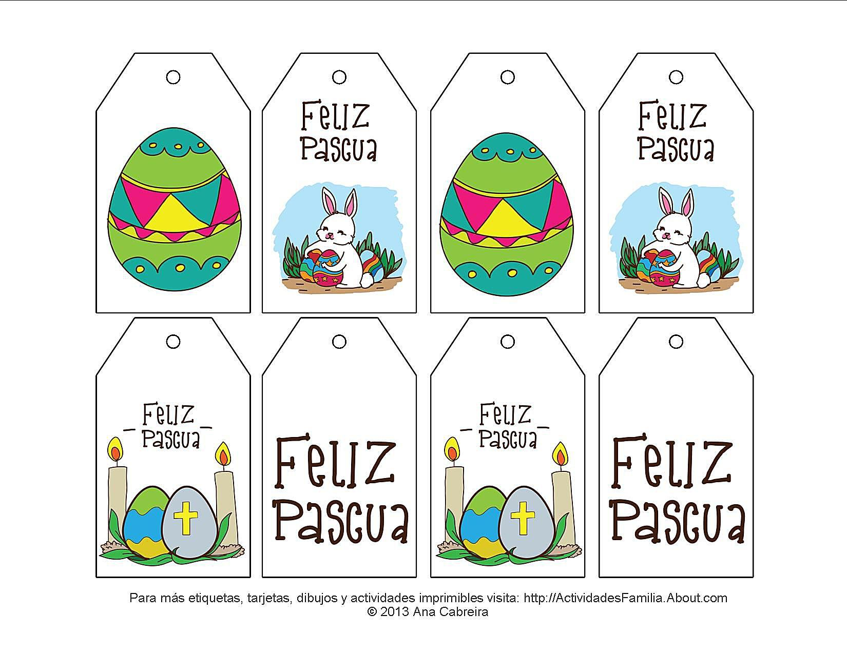 Etiquetas de Pascua para imprimir