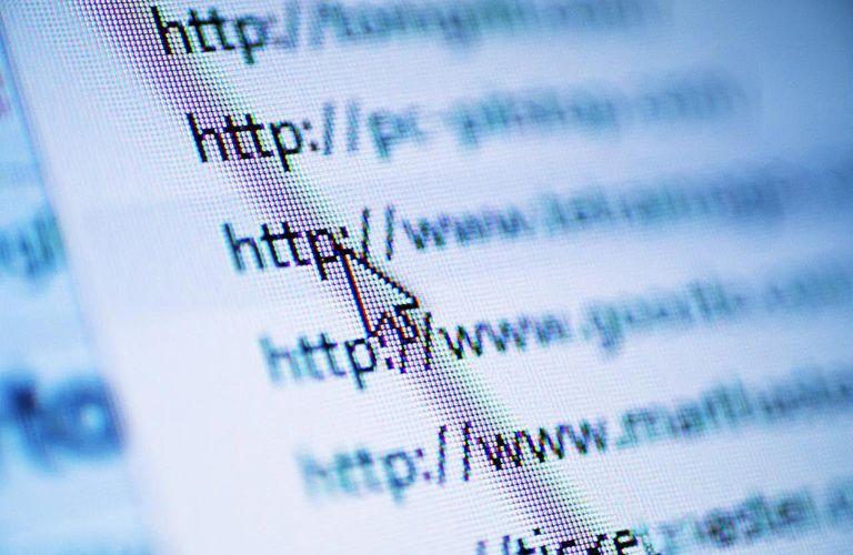 Website displayed on screen