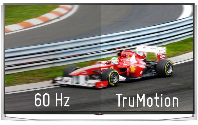 LG TruMotion versus conventional 60hz refresh rate