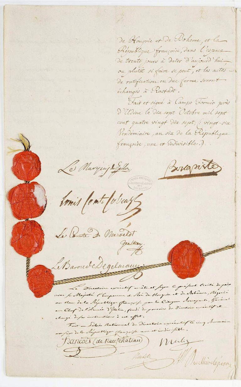 The Treaty of Campo Formio