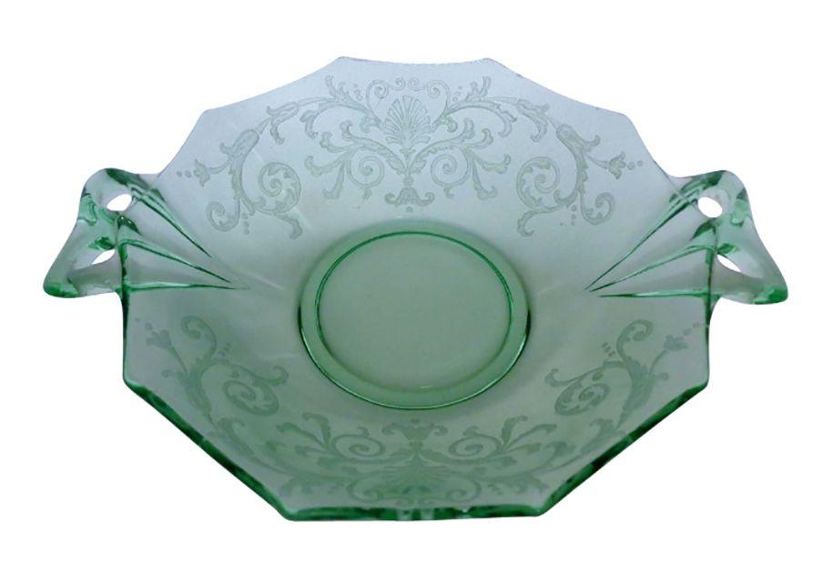 Fostoria Versailles Green Glass Bowl