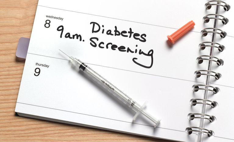 diabetes screening on calendar