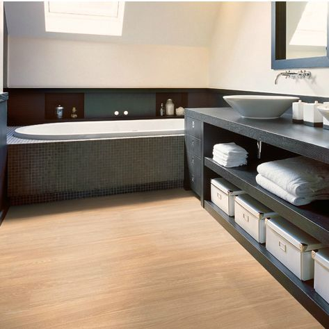 Small Bathroom Flooring Ideas: Waterproof Laminate