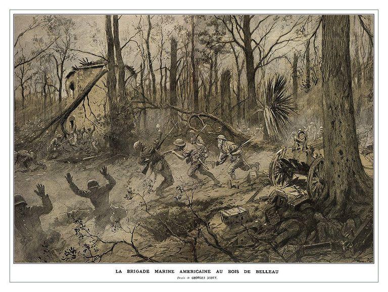 Fighting in Belleau Wood