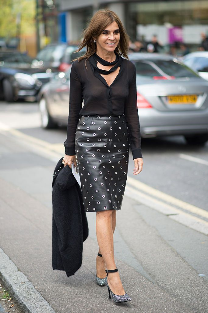 Try a Leather Pencil Skirt