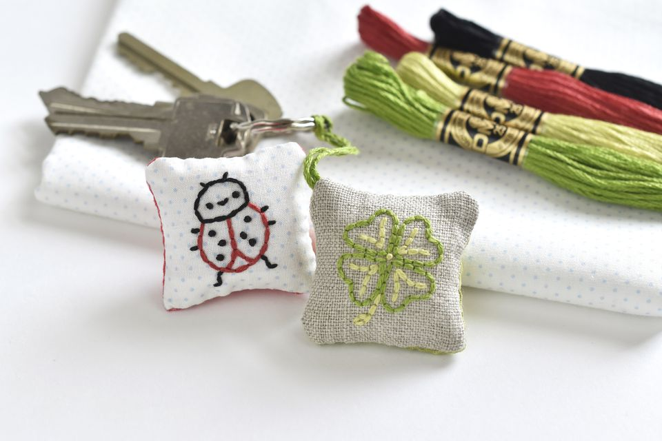 Make an Embroidered Lucky Charm