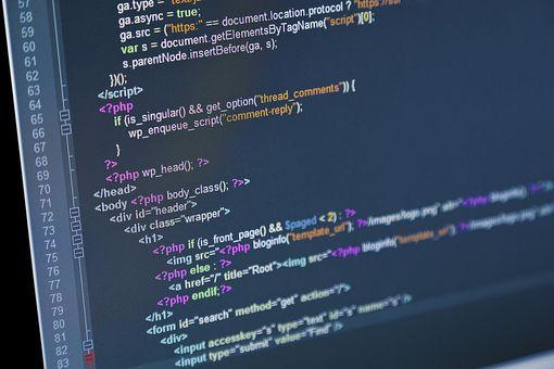 HTML code on computer screen