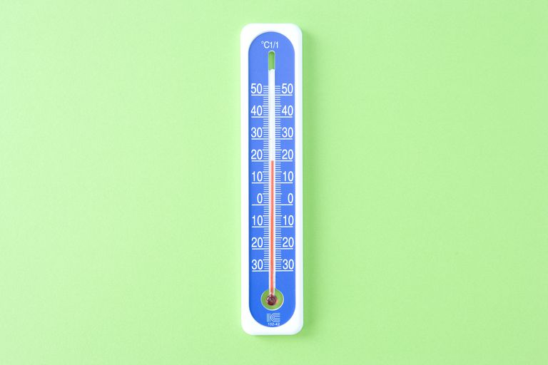 To convert Kelvin to Fahrenheit, subtract 273.15, multiply this by 1.8 and add 32.