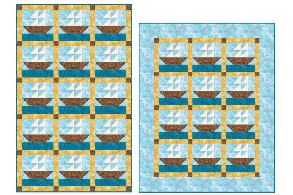 Sailboats Baby Quilt Pattern