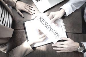 Employee submitting resignation