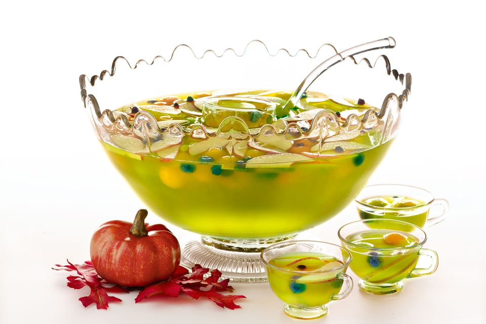 halloween harvest punch midori melon liqueur - Spiked Halloween Punch Recipes