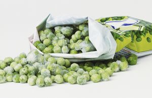Bad of frozen peas.`