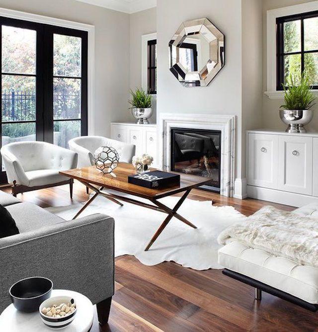 A mid-century modern living room