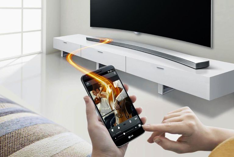 The LG LAS855M or H8 Curved Sound Bar