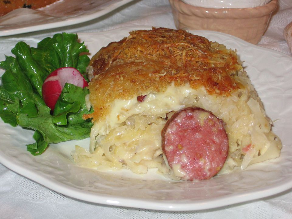 Smigus-Dyngus Casserole is a great way to use up Easter leftovers.