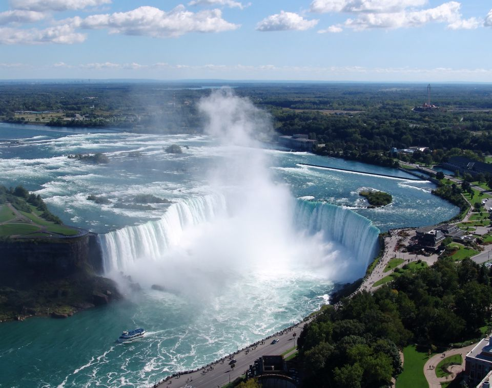 Aerial shot of Horseshoe Falls