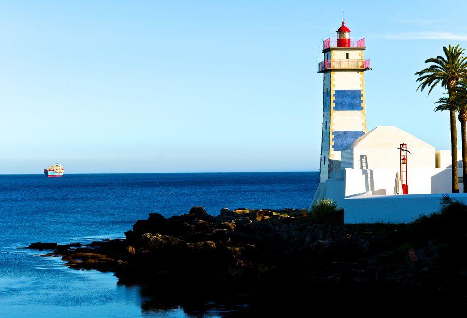 Santa Maria Lighthouse in Cascais, an easy day trip from Lisbon