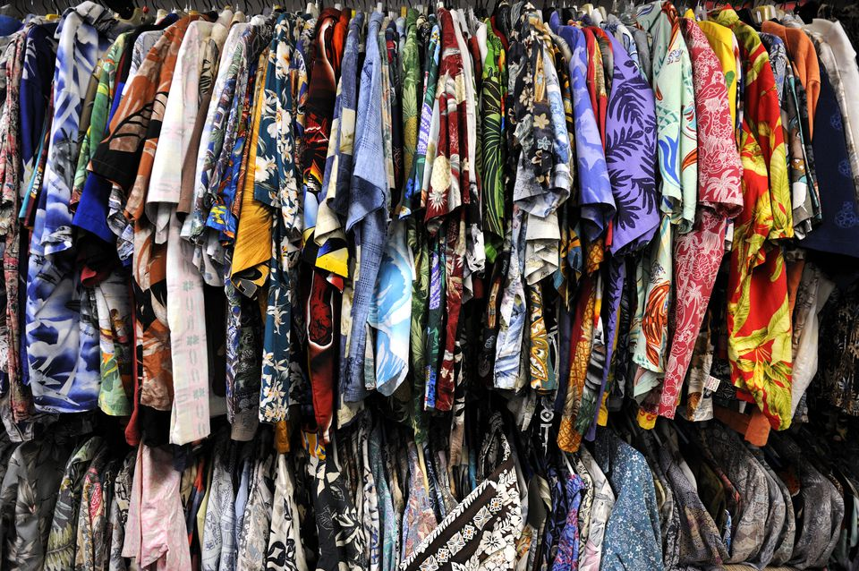 Aloha Shirts for sale at Bailey's Antiques and Aloha Shirts store in Honolulu