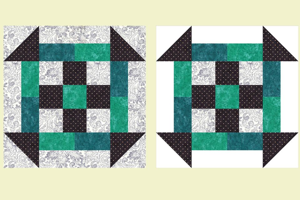 Unique Nine Patch Quilt Block Pattern