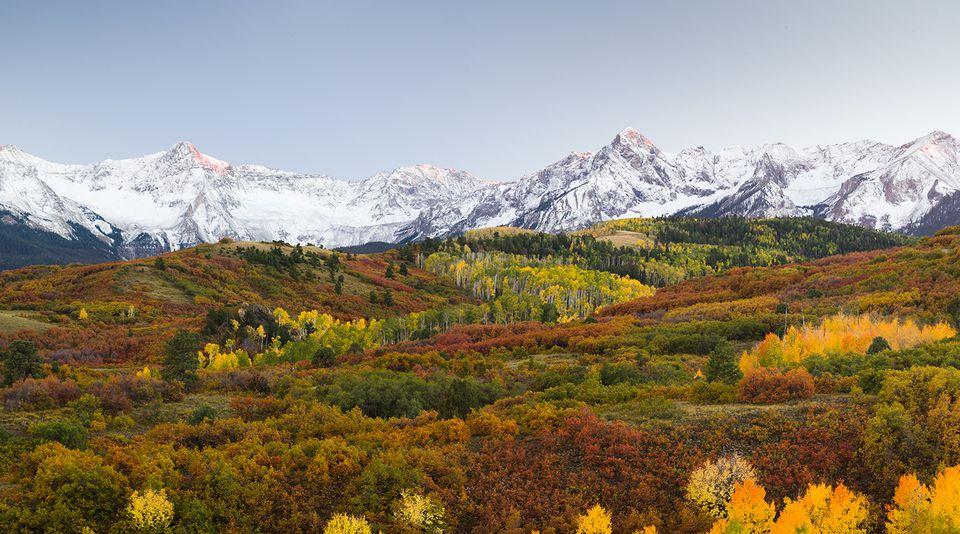 Dallas divide view point autumn of Colorado